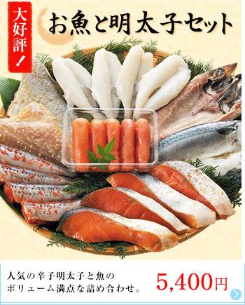 お魚と明太子セット